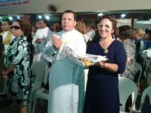 D. Rita de Cássia Pires Barbosa Pecegueiro Anchieta e seu primogênito, João. Ao lado, vê-se D. Maria Adelaide Flexa Daltro Barreto.