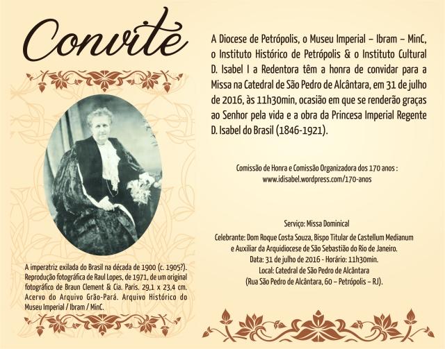 Convite Missa 170 anos
