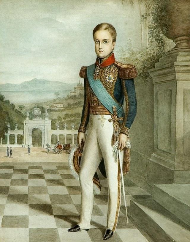 Anônimo. Retrato de D. Pedro II. Têmpera sobre papel, 0,49 X 0,39m, c. 1840. Acervo do Museu Imperial /Ibram /MinC. Fotografia de Jaime Acioli.