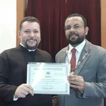 Prof. Euges Lima e Pe. João.
